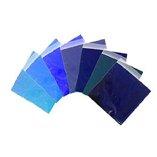 KUOGE Tie-Dye Powder Bulk,DIY Kit Reactive Dye Powder,Clothes Fabric Tie Fabric Dye with Dye Powder, for Kids Adults DIY Art Craft Party Supplies (7 Packs of Blue)