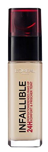 L'Oréal Paris Infaillible 24H Make-up in Nr. 220 Sand, perfektionierendes Flüssig-Make-up mit hoher Deckkraft, 24 Stunden wie frisch geschminkt, 30 ml