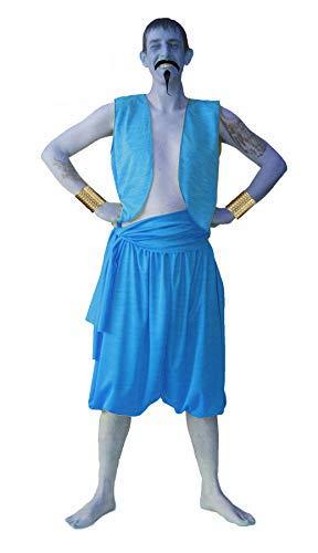 Disfraz de Aladdin para adultos, juego completo de genio de la lmpara, disfraz [S/M]