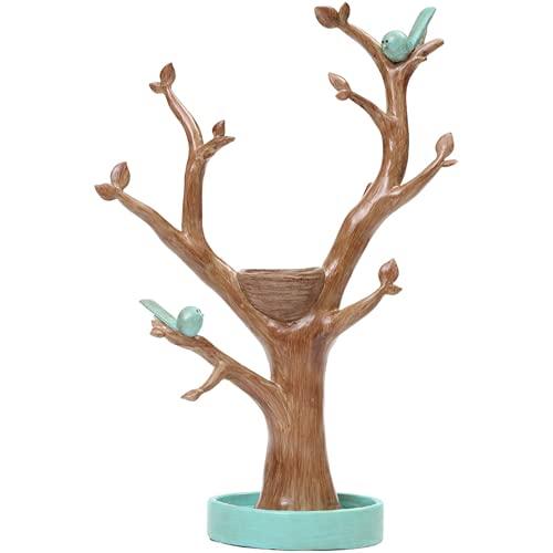 N\B Supporto di visualizzazione dei monili, Rack di stoccaggio dei monili con Il Nido dell'uccello, Supporto dell'albero dell'albero dell'ambiente dell'ambiente dell'ambiente di Resina, Adatto per