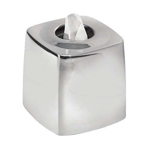 polished chrome tissue box cover - 2
