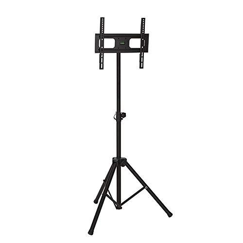 """DQ Tripod 400 TV Ständer Schwarz Standfuß Standmodell Fernsehständer LCD OLED LED QLED - Empfohlene TV-Größe: 23""""-60"""" - VESA 100x100 400x400 mm - Vollbeweglich/Drehbar/Schwenkbar/Neigbar"""