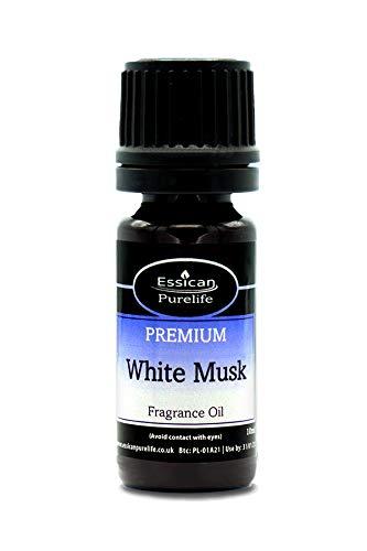 Aroma de aceite para hacer velas de almizcle blanco y baño disponible en botellas de 10 ml, 50 ml, 100 ml y 200 ml 10 ml blanco