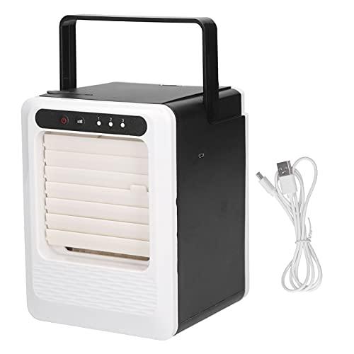 Mini aire acondicionado, ventilador humidificador portátil de viento fuerte, silencioso y de bajo ruido, tamaño pequeño y liviano para escritorio o sala de estar, tanto para la oficina como
