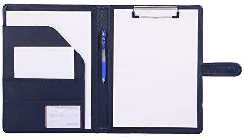Klemmbrettmappe A4 Schreibmappe klemmbrett mappe mit Klemmbrett ordner a4 klemmbrett (Blau)