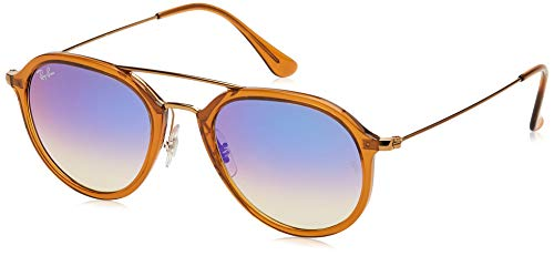 Ray-Ban 0Rb4253 Gafas de sol, Marrón/Bronce-Cobre/Azul Degradada (Shiny Brown), 50 Unisex-Adulto