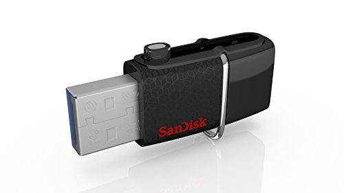 SanDisk Ultra 128 GB Dual USB SDDD2-128G-GAM46 Flash-Laufwerk (USB 3.0 bis zu 150MB/Sek) schwarz