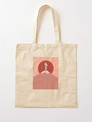 Sumo Fuji Wrestler Mount San Japan Tokyo Tote Cotton Very Bag | Canvas Grocery Bags Tote Bags with Handles Durable Cotton Shopping Bags