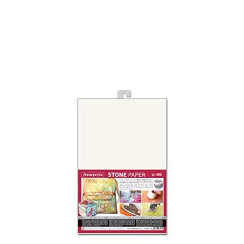 STAMPERIA DFPCA4 Steinpapier Größe A4, Silicium Papier, Weiß, 21 x 29.7