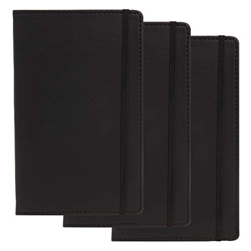 C.R. Gibson (3 Pack) Leatherette Journal for Women, Journal for Men 240pg Writing Journal, Ruled Journal, 5.25