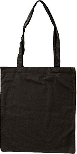 Nashville print factory Baumwollbeutel auch mit Druck | Logo | Werbung | Tragetasche Tasche Beutel Stoffbeutel Baumwolltasche (Lange Henkel - 1 Beutel, schwarz - unbedruckt)