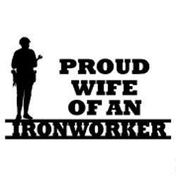 BD USA Proud Wife of an Ironworker Decal, Decal Sticker Vinyl Car Home Truck Window Laptop
