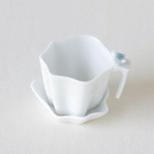 Porcelaine Blanche Infusion Thé Vert Corée Asie Orient SET INFUSEUR + COUPELLE