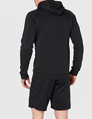 adidas CORE18 Hoody Sudadera con Capucha, Hombre, Negro (Negro/Blanco), L