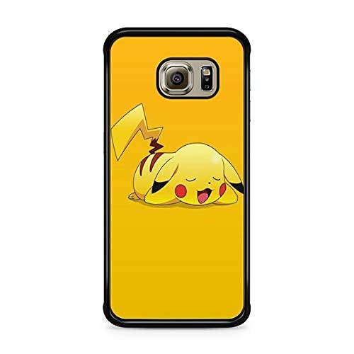 Coque pour Samsung Galaxy S6 Edge Pokemon go Team Pokedex Pikachu Manga Tortank Game Boy Color Salameche Noctali Valor Mystic Instinct Case 35