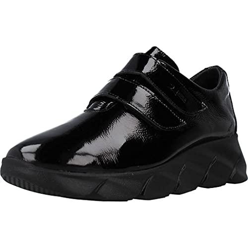 24 Horas Zapatos Cordones Mujer 25117 para Mujer Negro 37 EU