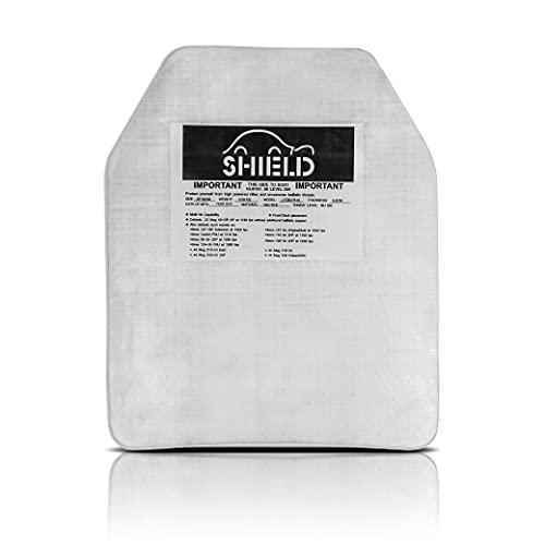 SHIELD - SK2 / NIJ IIIA Platte Schutzplatte, Einschubplatte für schusssichere Weste, Plattenträger und Plate Carrier - Für taktischen Einsatz oder Airsoft geeignet