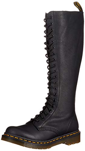 Dr. Martens, Women's 1B60 20-Eye Lace Up Knee High Leather Boot, Black, 8 US Women