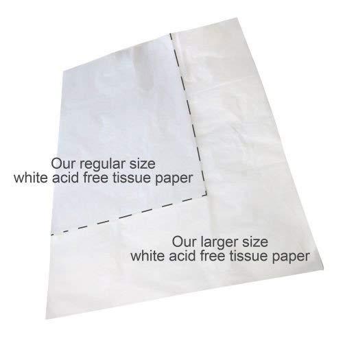 Caraselle–2172–1750x 1000mm Jumbo Hojas de Papel de Tejido sin ácido–Blanco (Pack de 25)