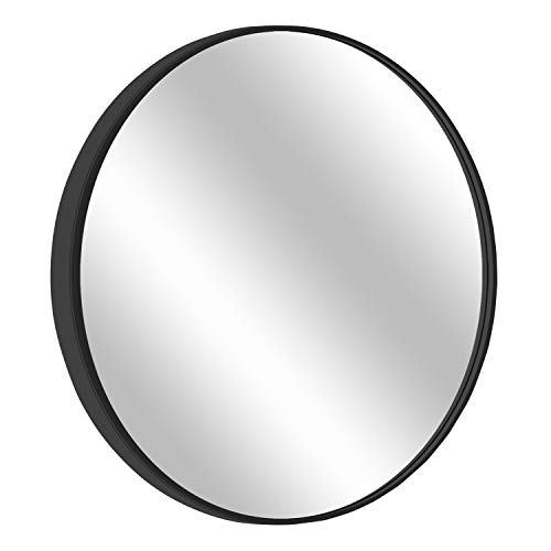"MORIGEM Round Mirror, 31.5"" Wall Mirror, Wall-Mounted Mirror for Bedroom, Bathroom, Living -"