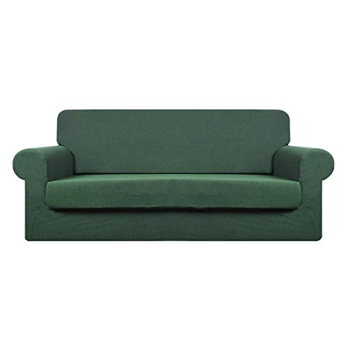 CENPENYA Fundas de sofá elásticas para Cojines Fundas de sofá para Muebles de Sala Fundas con Fondo elástico, Tela Duradera de Spandex (Verde Matcha,3 plazas)