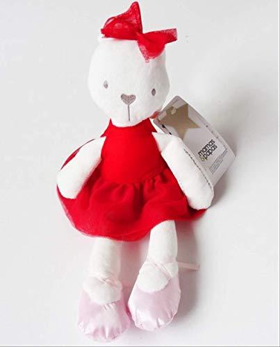 DOUFUZZ SNHPP Lindo muñeca Conejito Rosa usando Falda conejita Juguete de Felpa Gran muñeca de Trapo 42CM Conejo Rojo