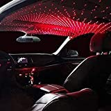 MAKECELL Car Full Roof Star Projection Laser Interior Atmosphere Lights LED Decorative - Red