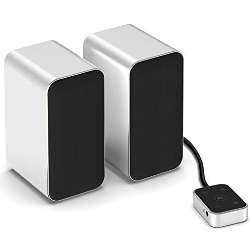 KEiiD Computer Speakers with Aluminum Housings, Bluetooth 5.0 PC Speakers for Desktop or Laptop Gaming Stereo Wireless Streaming with Touch Pad, DSP Sound Optimization