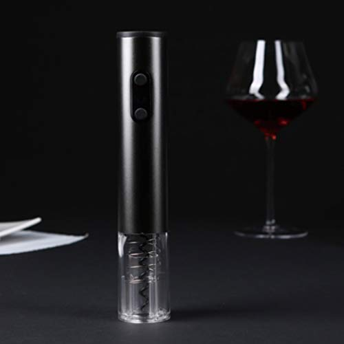 XYSQWZ Wine Corkscrew Red Wine Electric Bottle Opener Transparent Window Aluminum Foil Knife Does Not Include Four 5A Battery-Powered Cordless Batteries The Best Gift for Wine Lovers