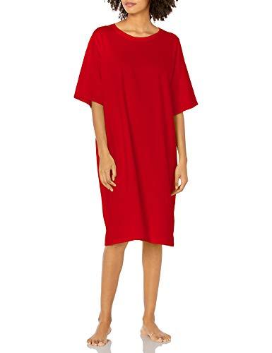 Hanes Women's Wear Around Nightshirt, Red, One Size