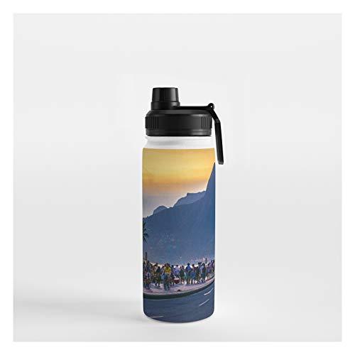 Society6 Ipanema Beach, Rio De Janeiro, Brazil by Dflc Prints on Water Bottle - 18 oz 532 mL - Sport Lid