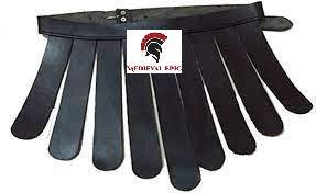 Cinturn Legionario Romano Medieval - Disfraz de armadura Negro
