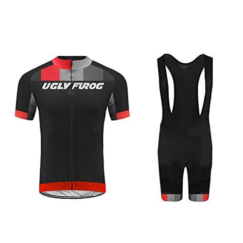 Uglyfrog 2018-2019 MTB Rennrad Bekleidung Männer Radfahren Kleidung Set Kurze Hülse Trikots+Trägerhosen Anzüge Sportbekleidung