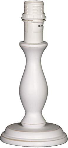 Lieblingslampen Lampenfuß für Tischlampe E14 Holz weiß antikweiß 20 cm Nordika