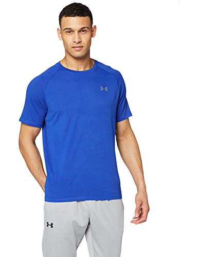 Under Armour Men's Tech 2.0 Short Sleeve T-Shirt, Royal (400)/Graphite, Medium