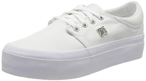 DC Shoes Trase Platform TX Se, Zapatillas para Mujer, Blanco (White/Silver Ws4), 36 EU