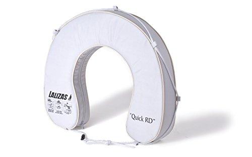 wellenshop Lalizas Hufeisen-Rettungsring Weiß 145N Polyester PVC-Keder mit Rundumleine UV-Beständig Rettungsreifen Hufeisenform Boot