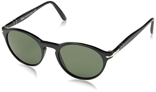 Persol Po3092sm Gafas de sol, Negro (Black/Green), 50 Unisex-Adulto