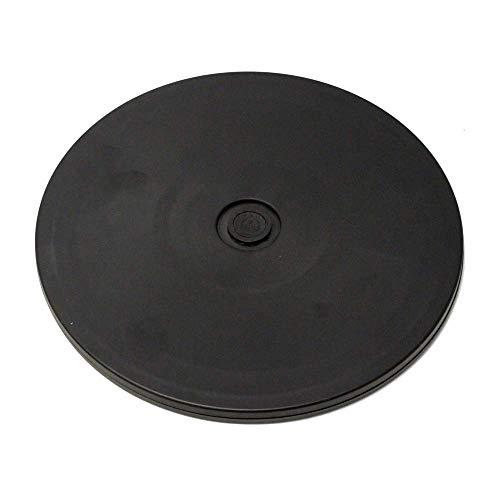 PrimeMatik - Base giratoria manual de 20,3 cm. Plataforma rotatoria de color negro ⭐