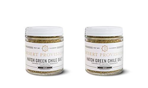 Hatch Green Chile Salt by Desert Provisions, 2 Count (3.4 oz each) (Mild)