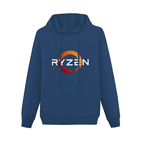 HJKIO GraphicHoodie Funny Pc CP Uprocessor AMD Ryzen Cotton Long Sleeve Sweatshirts Navy S
