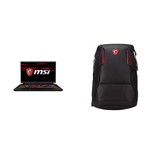 MSI GS75 Stealth 10SE-816XES - Ordenador portátil Gaming de 17.3' FullHD, Negro, Teclado QWERTY Español + MSI Urban Raider - Mochila Gaming para Ordenador portátil de 17', Negro