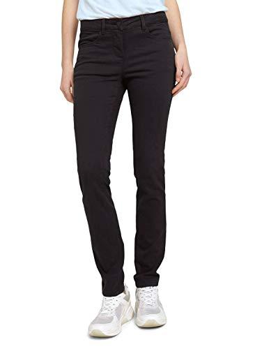 TOM TAILOR Damen 1025835 Marvin Straight Jeans, 14482-Deep Black, 42W / 32L