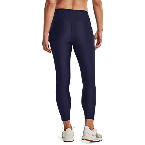 Under Armour Leggings Heatgear Armour Hirise Ankle para Mujer, Mujer, Leggings, 1365335-019, Charcoal Light Heather White 019, Medium