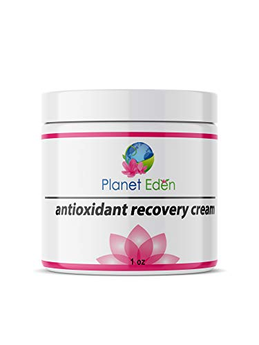 Planet Eden Natural Antioxidant Recovery Cream for Mature Skin - Soothes and Heals with Deep Moisture, Peptides and Botanical Extracts - Excellent for Skin Peels