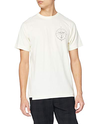 Firetrap Imber T-Shirt, Bianca, 2XL Uomo