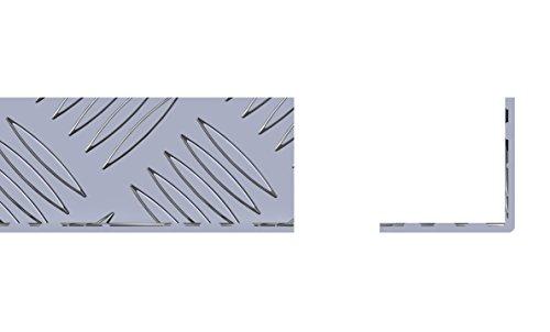 STORMGUARD 18AM037 Inwendige Hoekprofielplaten, Aluminium, 1000 x 40 x 40 x 2 mm, Set van 2 stuks