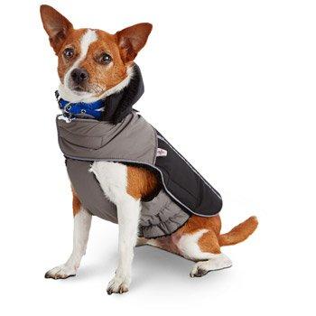 Good2Go Black & Gray All Weather Dog Parka, Large/X-Large