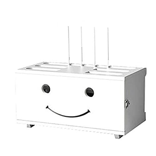 MXRLZX Caja de Almacenamiento de enrutador WiFi de Madera Estante de enrutador montado en la Pared Caja de administración de Cables de Madera Maciza Cajas organizadora Soporte de Placa de Enchufe,C