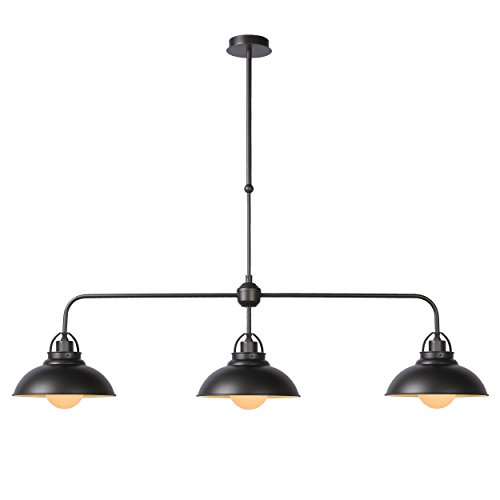 Lucide HAMOIS - Suspension - Ø 26 cm - Gris Métallique